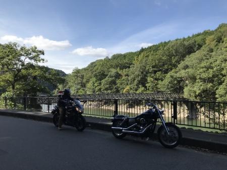 ぴーきち&ダイナ ハーレーで行く 天ケ瀬ダム ツーリング 天ケ瀬吊り橋