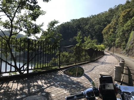 ぴーきち&ダイナ ハーレーで行く 一庫ダムツーリング 知明湖一周 一庫公園
