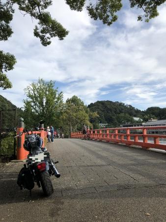 ぴーきち&ダイナ ハーレーで行く 宇治観光 観流橋