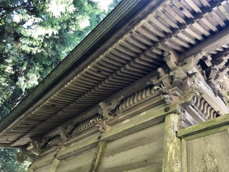 ぴーきち&ダイナ 美山 かやぶきの里ツーリング 知井八幡神社 彫刻