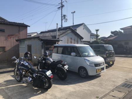 ぴーきち&ダイナ 和歌山湯浅ツーリング 湯浅町 無料駐車場