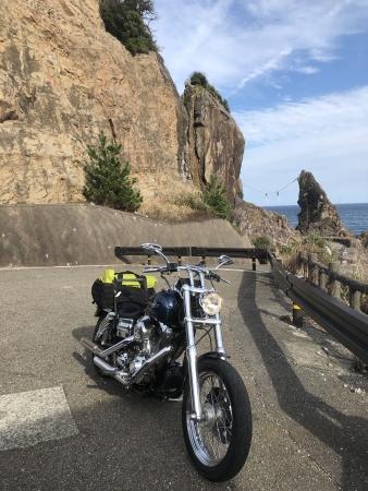 ぴーきち&ダイナ ハーレーで行く 室戸岬 ツーリング 夫婦岩