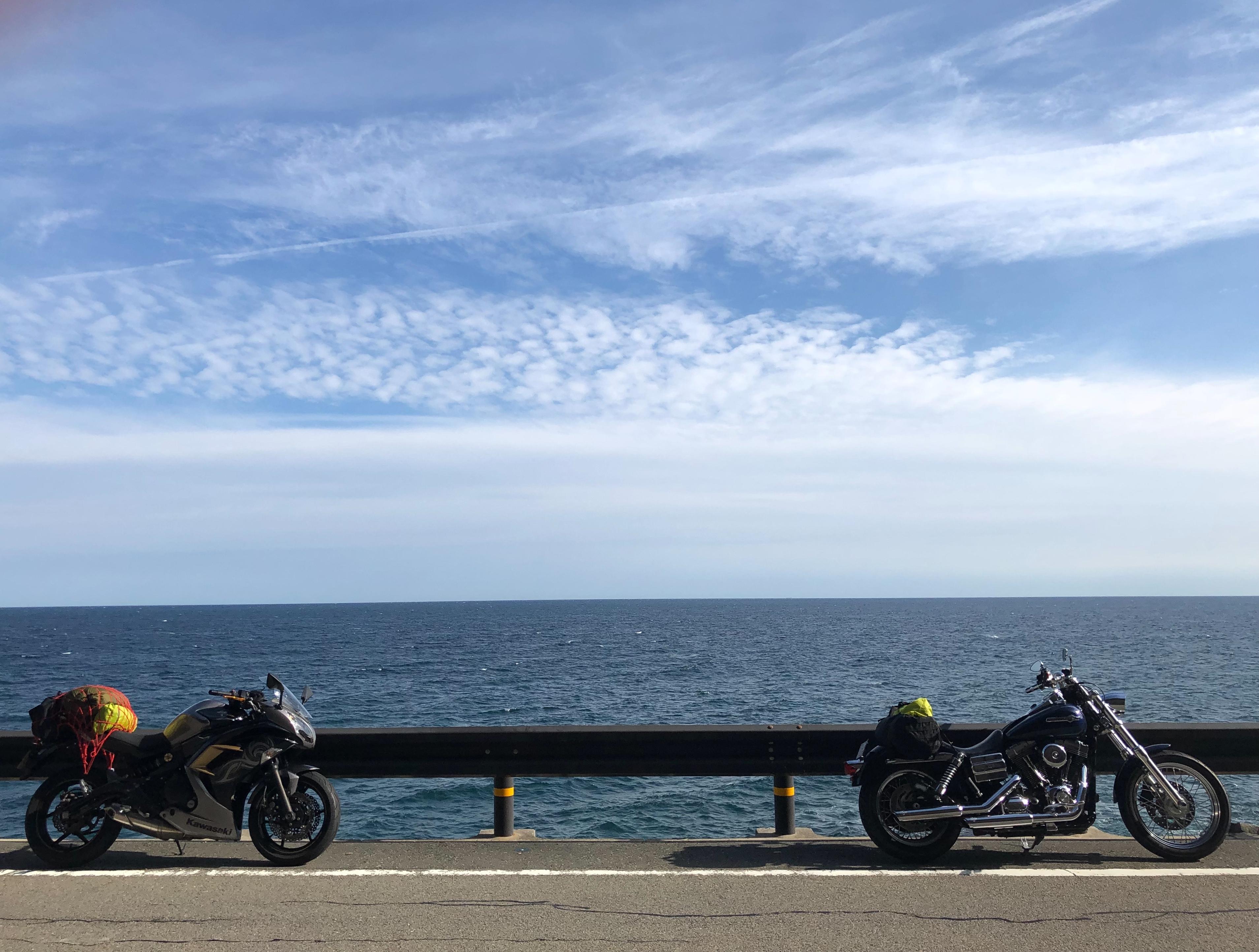 ぴーきち&ダイナ ハーレーで行く 室戸岬 ツーリング 高知の海岸線