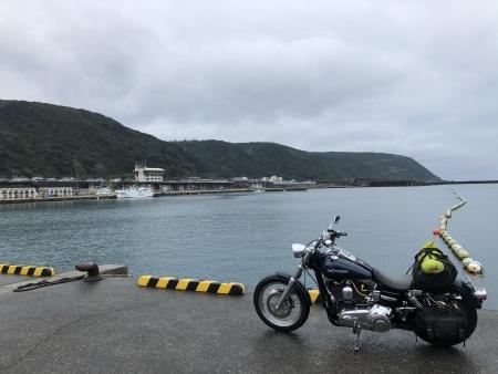 ぴーきち&ダイナ ハーレーで行く 室戸岬 ツーリング 道の駅とろむ 漁港
