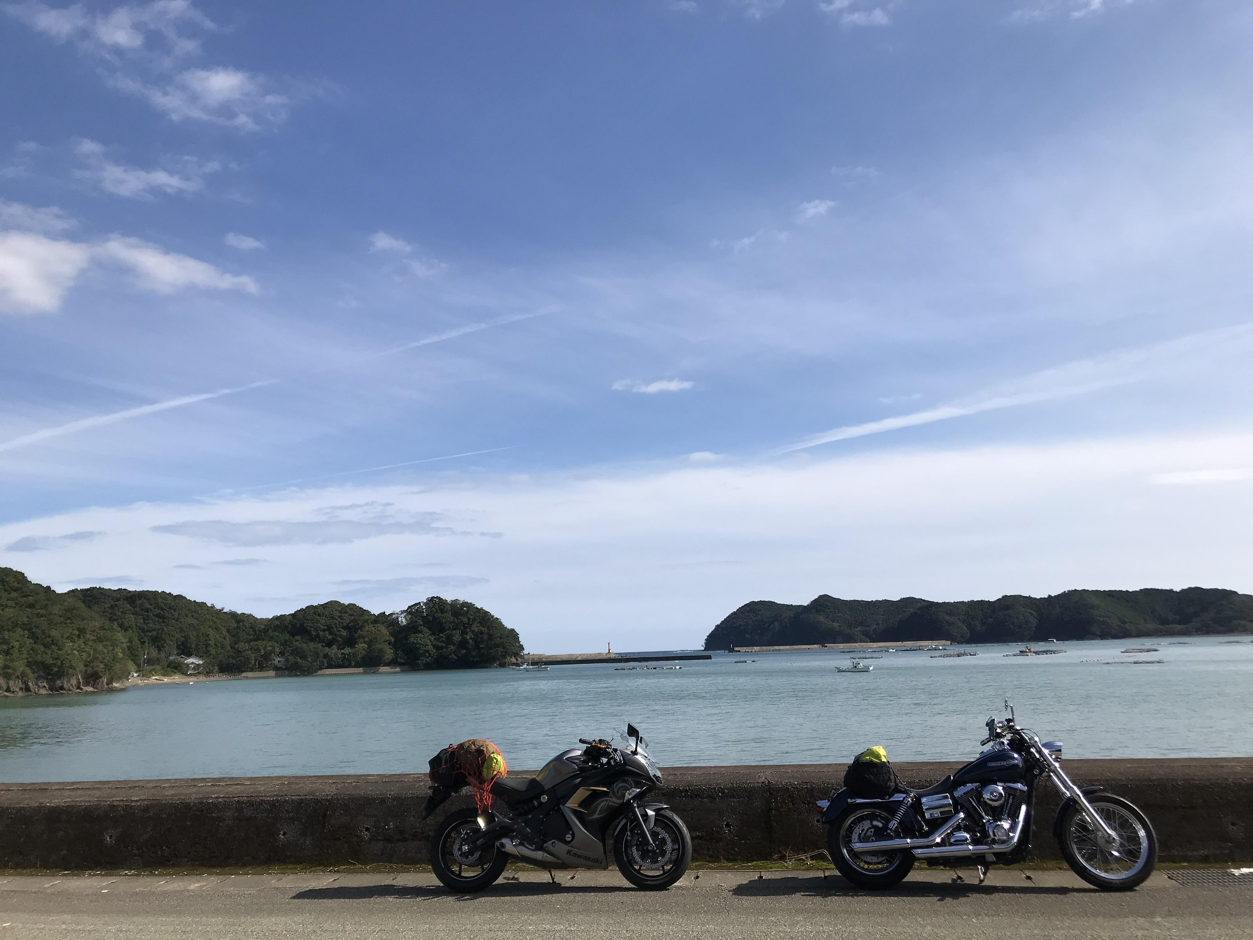 ぴーきち&ダイナ ハーレーで行く 室戸岬 ツーリング 徳島県海陽町 海岸線