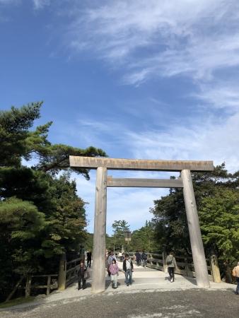 ぴーきち&ダイナ ハーレーで行く 伊勢志摩ツーリング 伊勢神宮 五十鈴川 鳥居