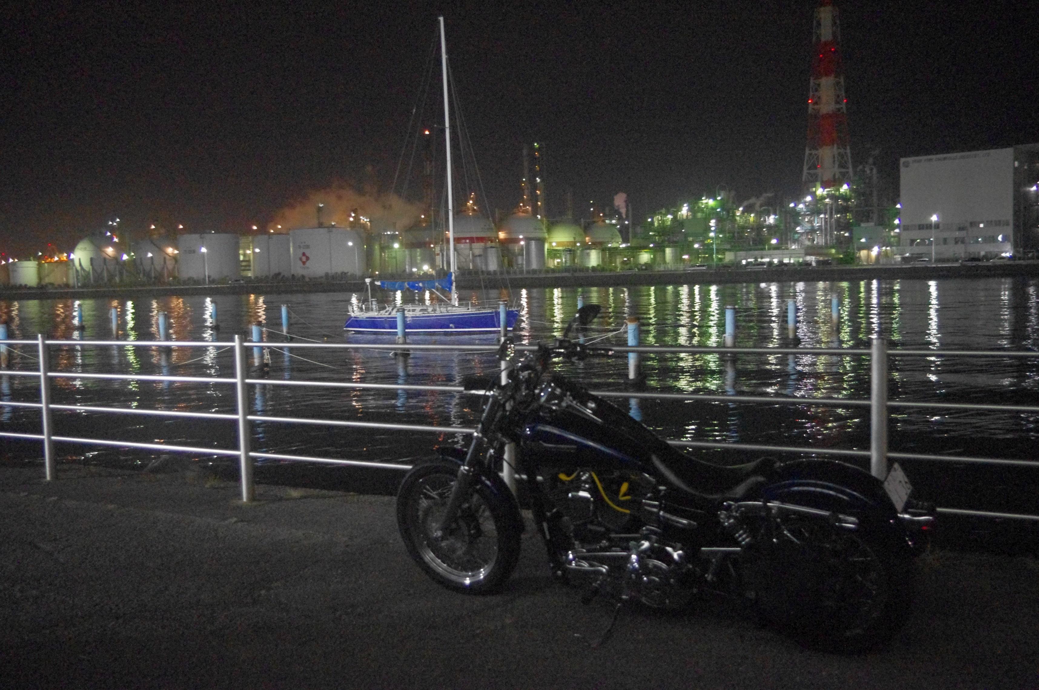 ぴーきち&ダイナ ハーレーで行く 伊勢志摩ツーリング 四日市コンビナート 工場夜景