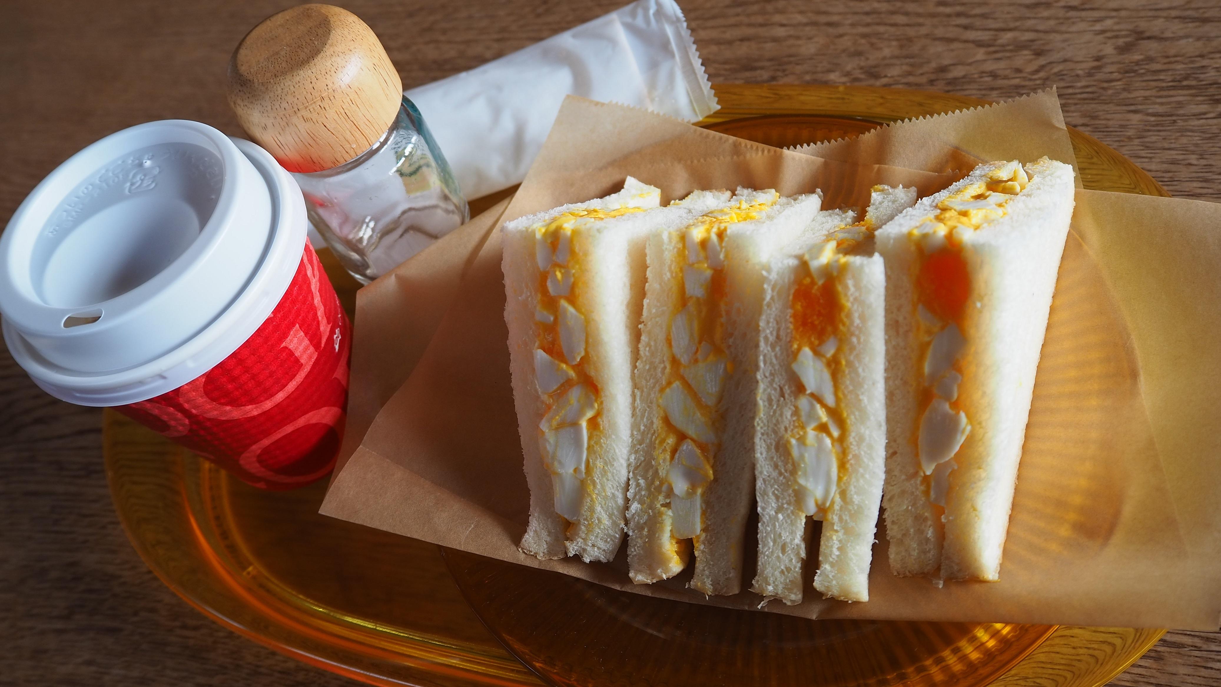 ぴーきち&ダイナ 美山 かやぶきの里ツーリング cafe美卵 卵サンド