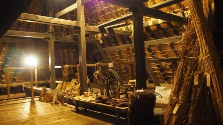 ぴーきち&ダイナ 美山 かやぶきの里ツーリング 美山民俗資料館 母屋の屋根裏