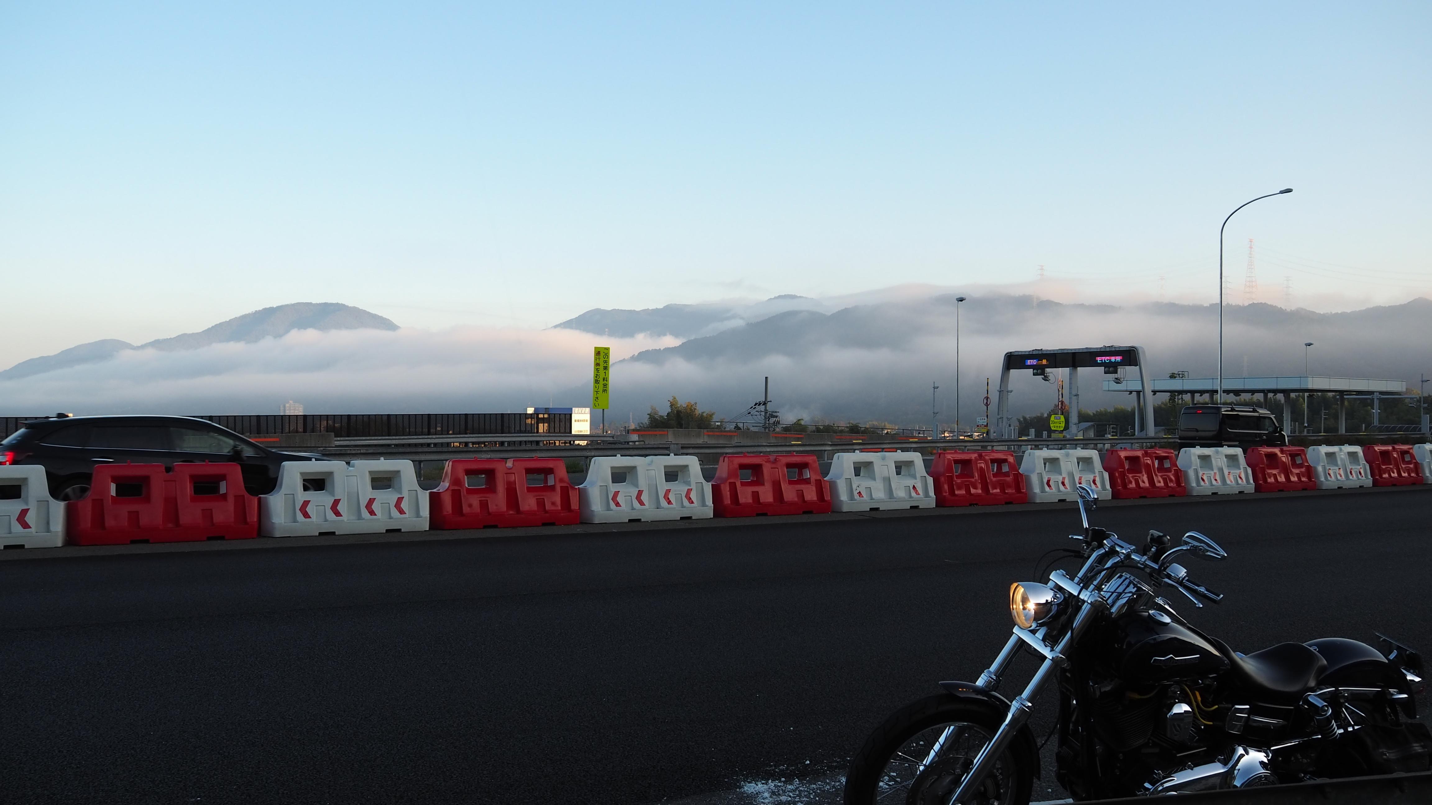 ぴーきち&ダイナ 美山 かやぶきの里ツーリング 雲海