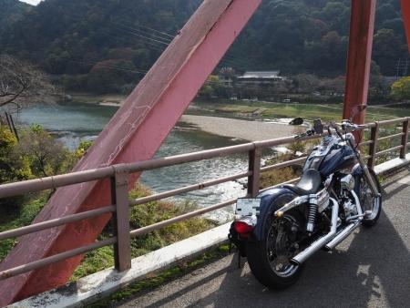 ぴーきち&ダイナ 布目ダムツーリング 京都府笠置大橋の景色
