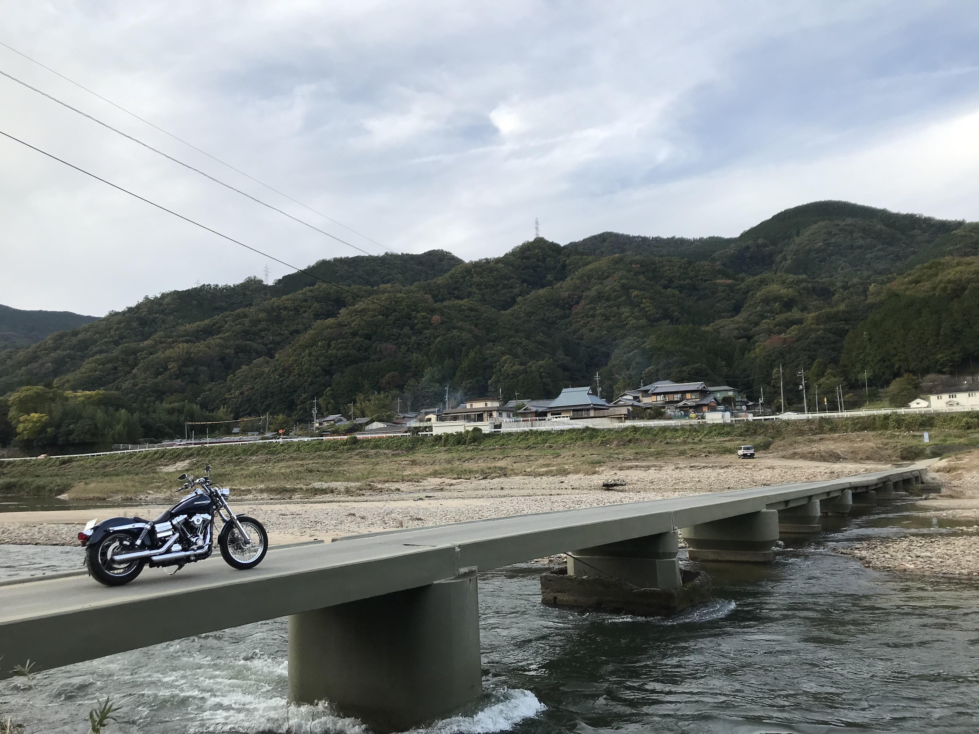 ぴーきち&ダイナ 高山ダムツーリング 木津川 沈下橋