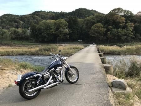 ぴーきち&ダイナ 高山ダムツーリング 木津川 沈下橋 恋路橋