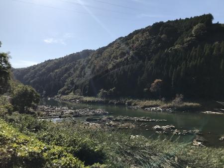 ぴーきち&ダイナ 高山ダムツーリング 木津川上流付近