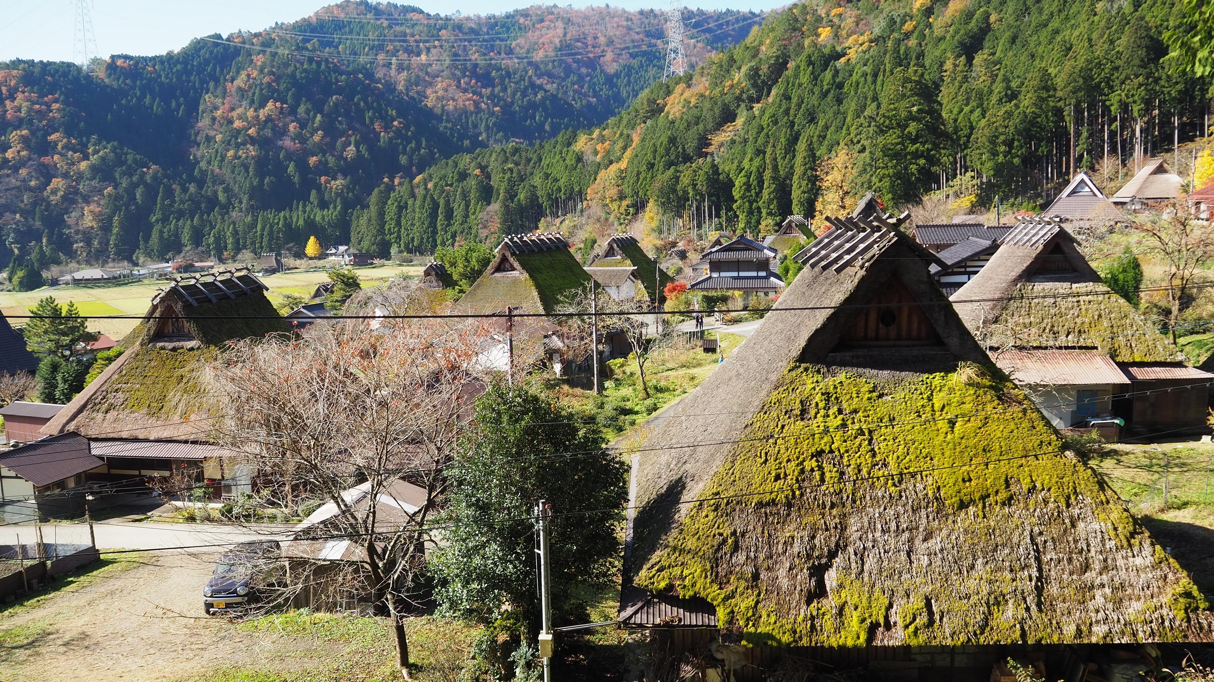ぴーきち&ダイナ 美山 かやぶきの里ツーリング 鎌倉神社 景色