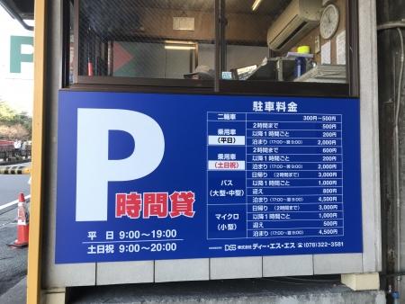 ぴーきち&ダイナ 有馬温泉ツーリング 有馬温泉駐車場 バイク