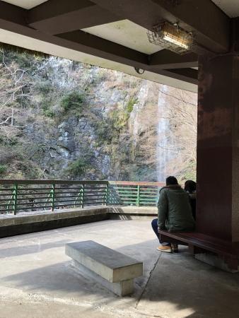 ぴーきち&ダイナ 箕面の滝ツーリング 箕面の大滝 冬の景色