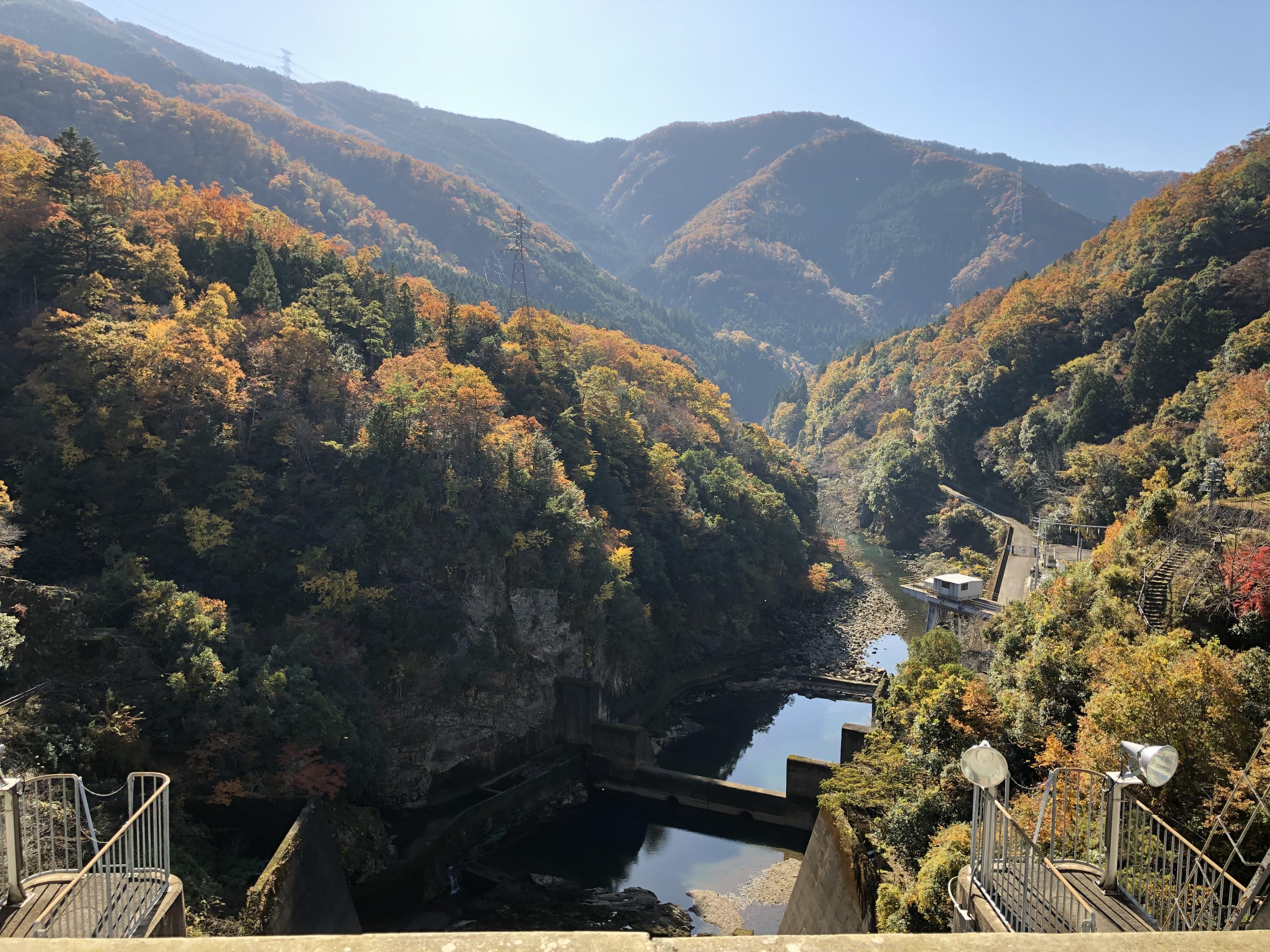 ぴーきち&ダイナ 美山 かやぶきの里ツーリング 大野ダム編 大野ダムの景色