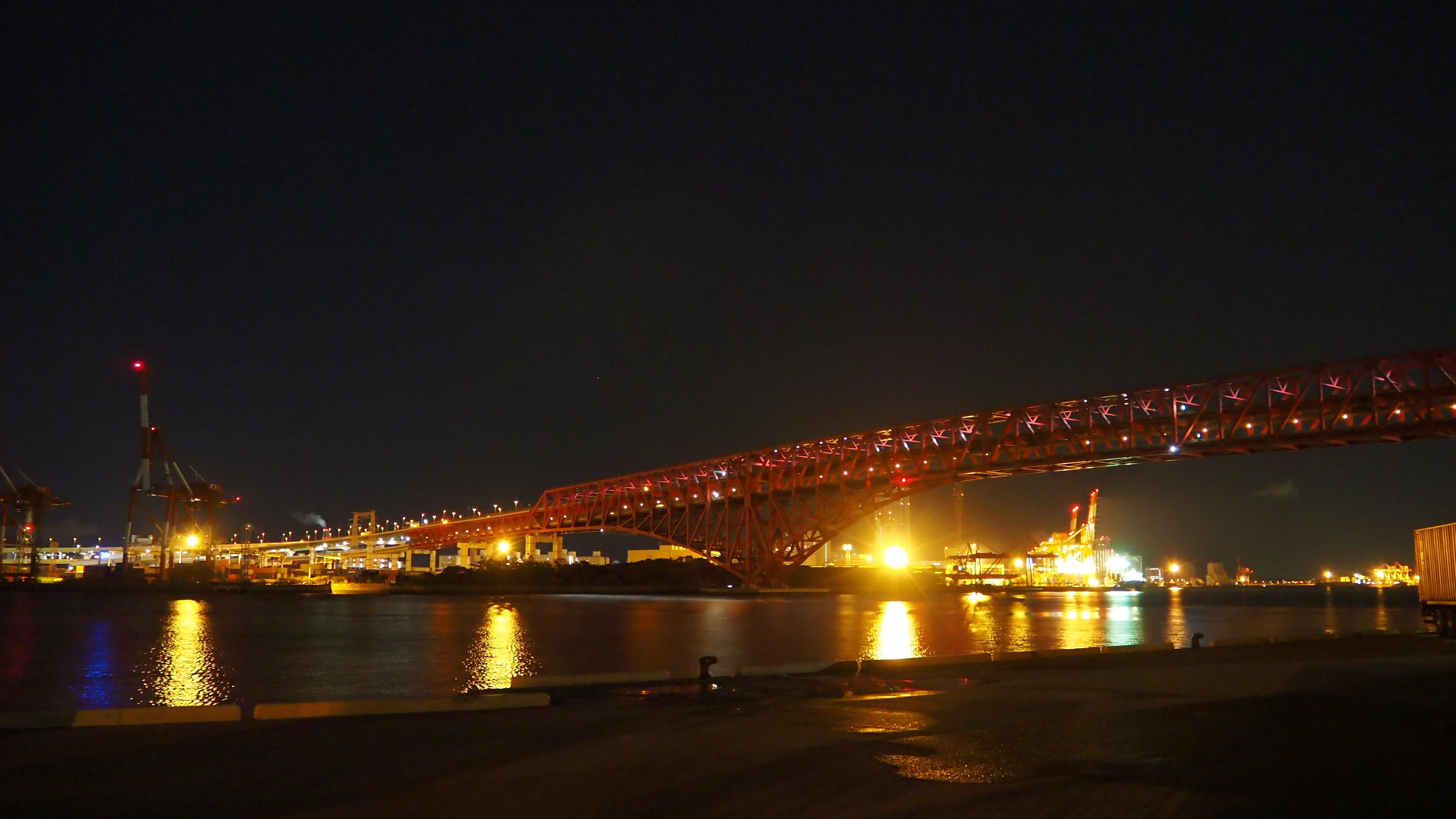 ぴーきち&ダイナ 大阪ナイトツーリング 大阪港第三突堤第七岸壁 ナナガン 夜景