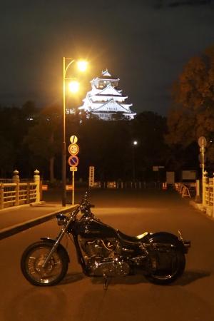 ぴーきち&ダイナ 大阪ナイトツーリング 大阪城の夜景