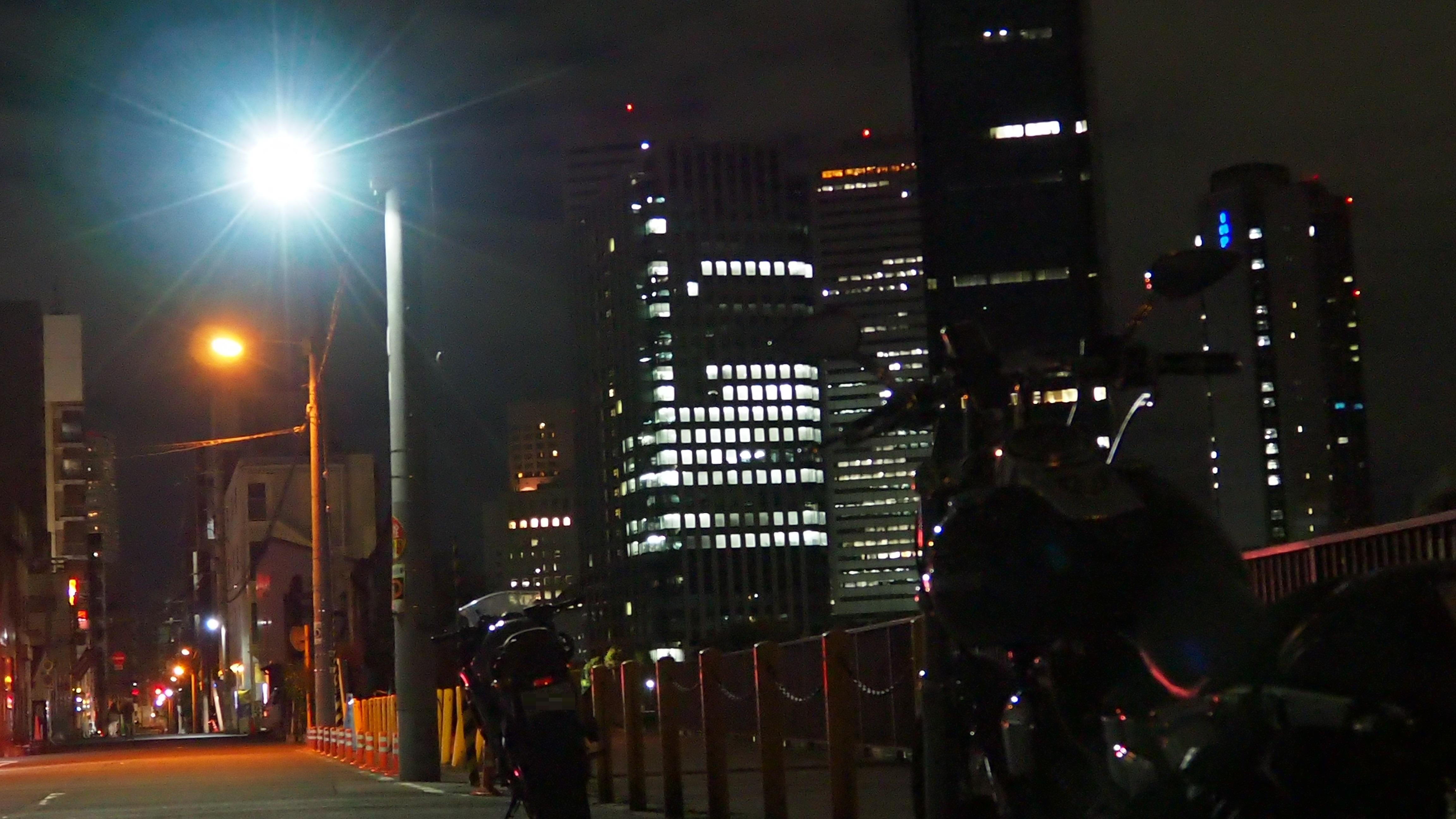 ぴーきち&ダイナ 大阪ナイトツーリング 大阪ビジネスパーク 夜景