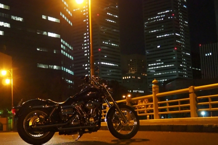 ぴーきち&ダイナ 大阪ナイトツーリング 大阪城の夜景 大阪ビジネスパーク