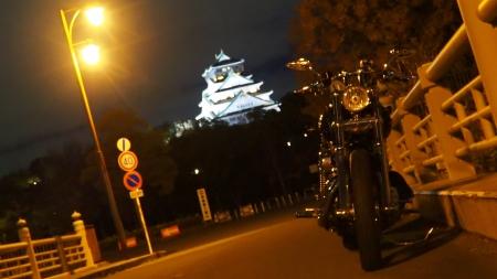 ぴーきち&ダイナ 大阪ナイトツーリング 大阪城の夜景 新鴫野橋