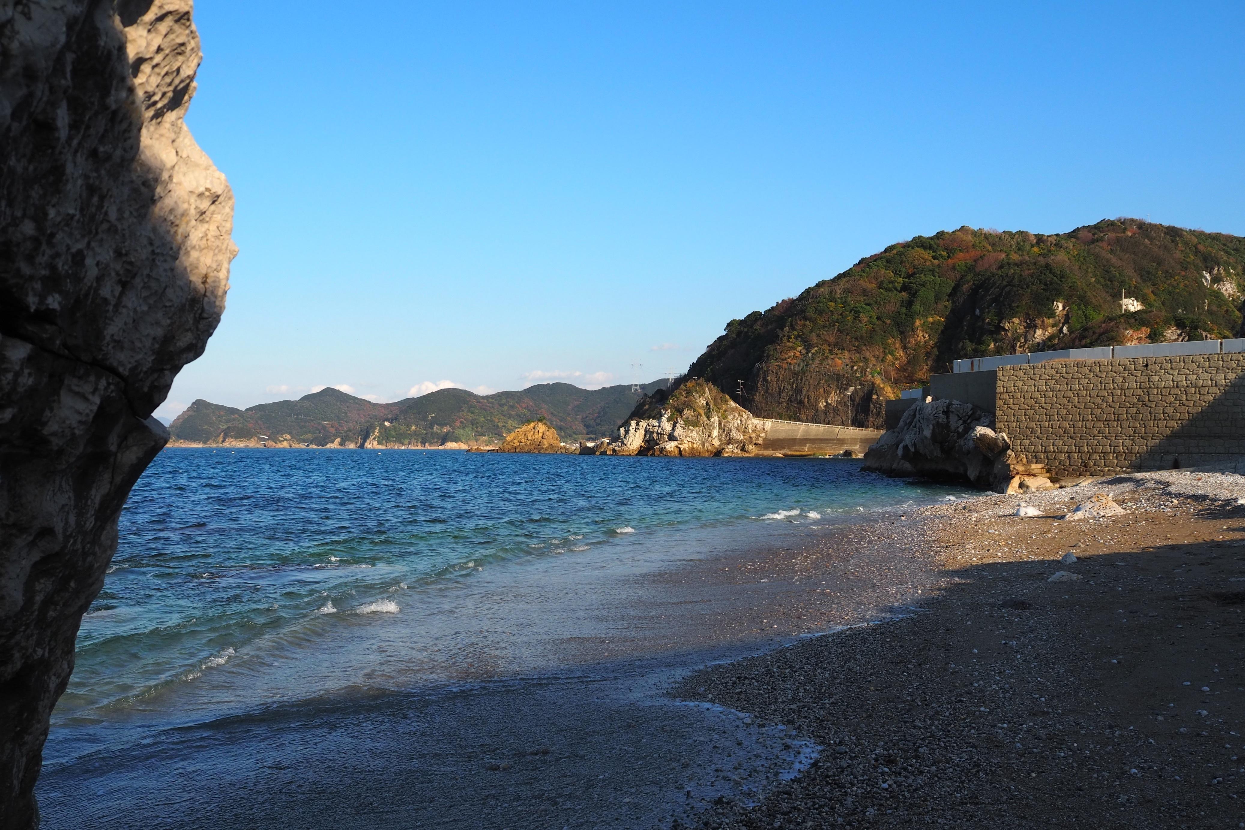 ぴーきち&ダイナ 和歌山湯浅ツーリング 白崎海洋公園 海岸線