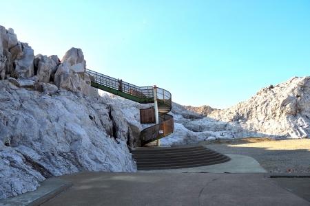 ぴーきち&ダイナ 和歌山湯浅ツーリング 白崎海洋公園 展望台 螺旋階段
