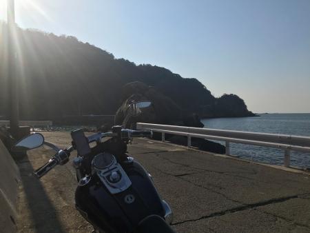 ぴーきち&ダイナ 和歌山湯浅ツーリング 白崎海洋公園の道のり 海岸線