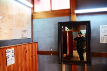 ぴーきち&ダイナ 和歌山湯浅ツーリング 湯浅町重要伝統的建造物群保存地区 甚風呂 鏡