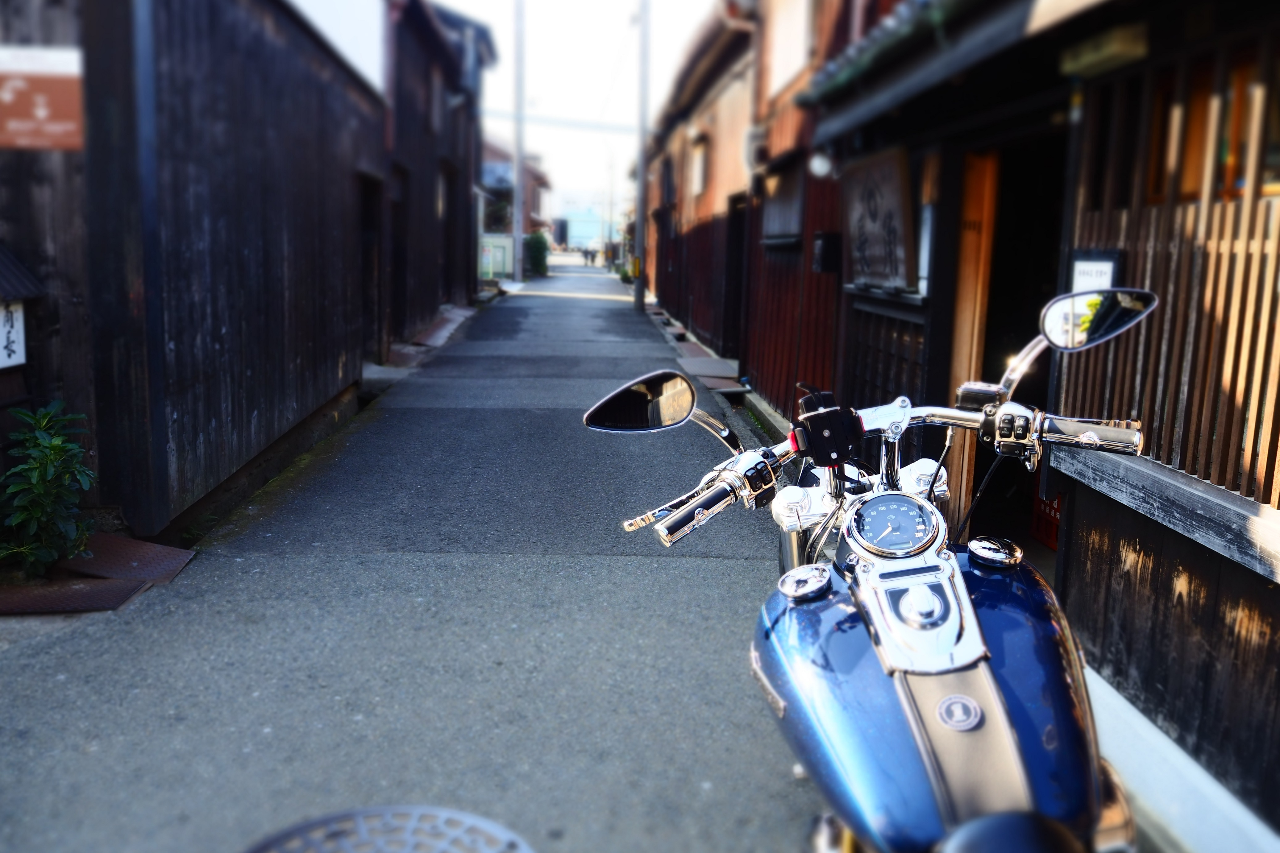ぴーきち&ダイナ 和歌山湯浅ツーリング 湯浅町重要伝統的建造物群保存地区 角長 店舗 周辺