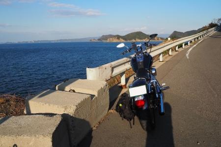 ぴーきち&ダイナ 和歌山湯浅ツーリング 由良町 海岸線