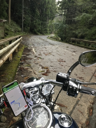 京都ダム巡り ツーリング 府道50号線 悪路