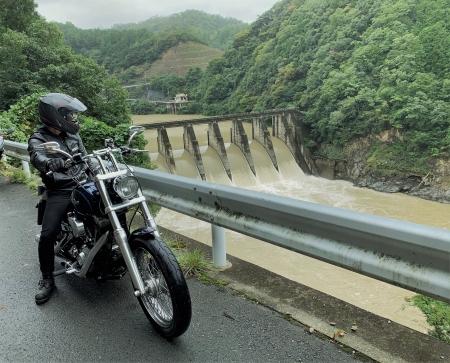 京都ダム巡り ツーリング 世木ダム ぴーきち