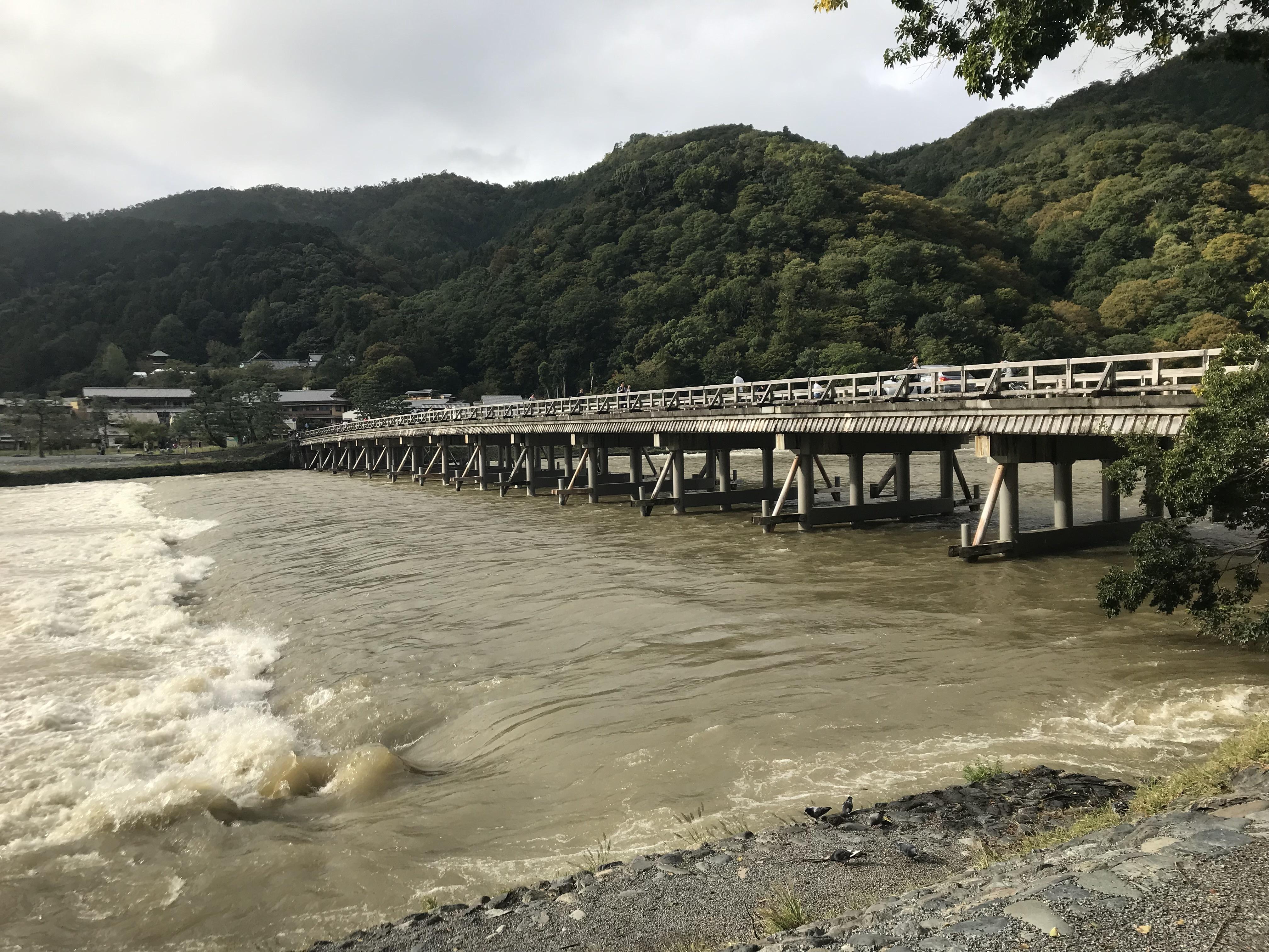 京都ダム巡り ツーリング 渡月橋