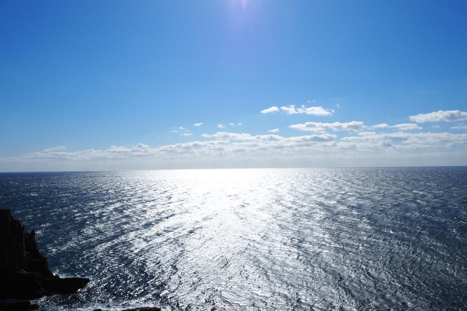 ぴーきち&ダイナ 和歌山南紀白浜ツーリング 水平線