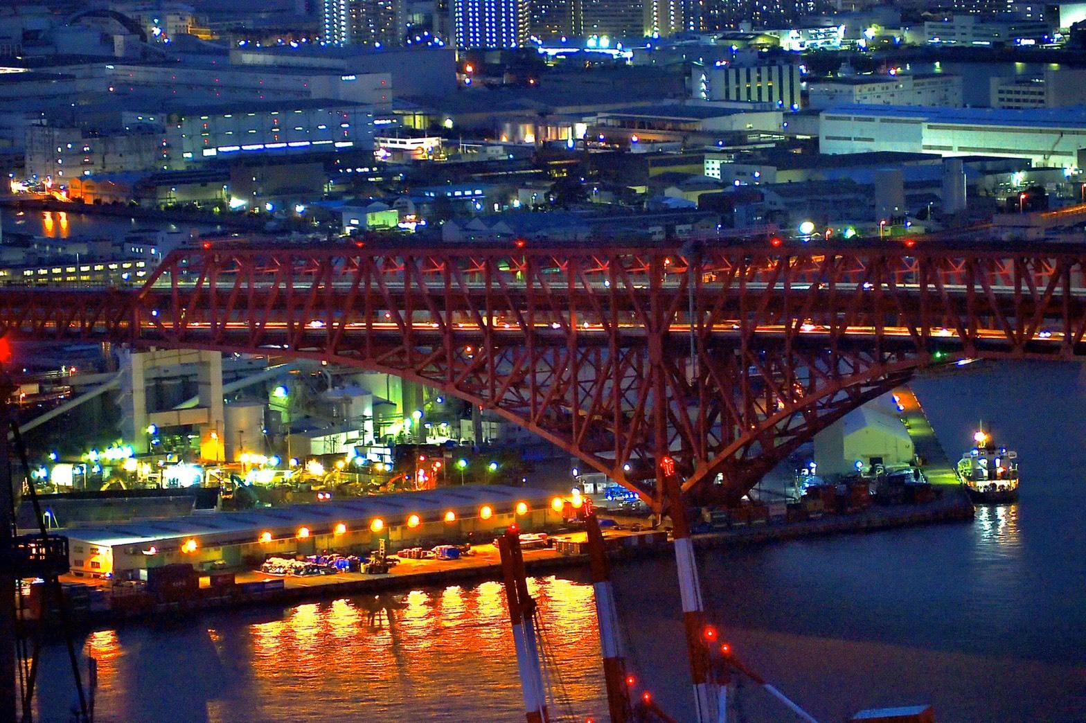 ぴーきち&ダイナ ランチツーリング 咲洲庁舎 コスモタワー 展望台 夜景