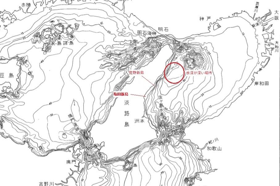 大阪湾 水深2
