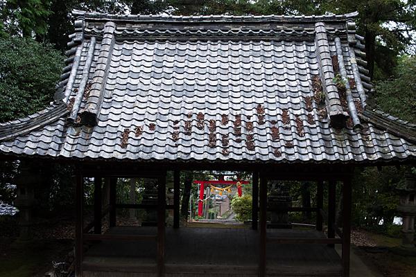 各務山の前八幡拝殿から見下ろす