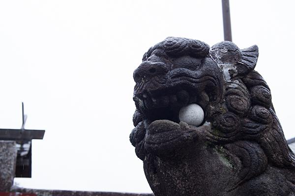 苧ヶ瀬神明社狛犬