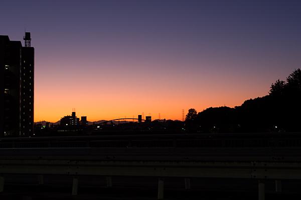 植田川夕景
