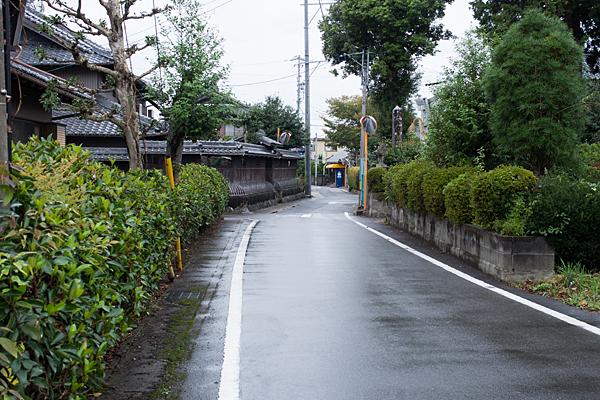 村国神社前の街道