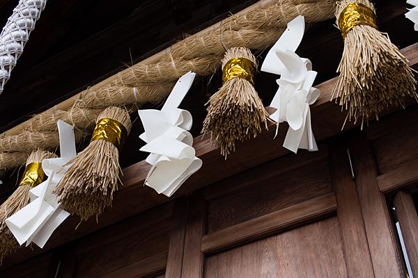 手力雄神社拝殿の注連縄