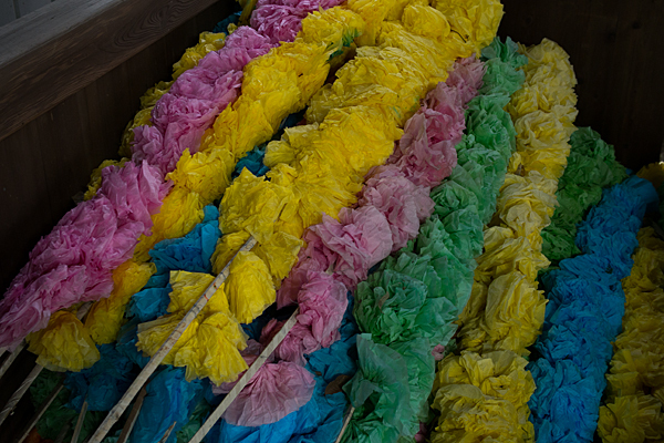 村上神社棒の飾り