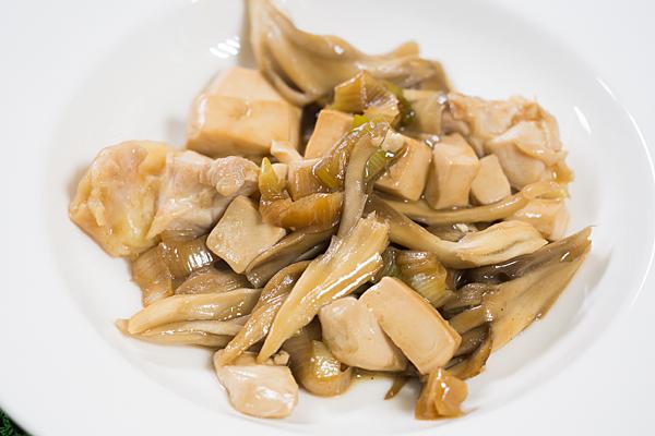豆腐とマイタケ
