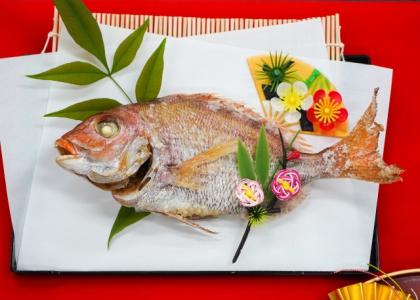 【鯛の姿焼き】おせち料理の意味、言われ、由来の紹介