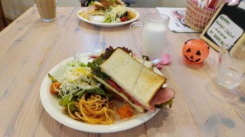 北軽井沢のオシャレドッグカフェで遅めのお昼