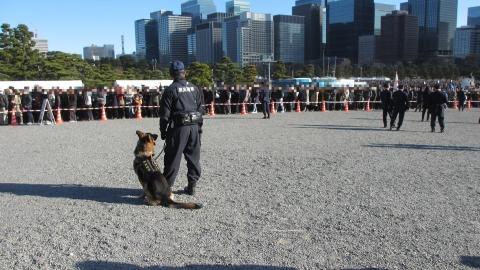 警察犬も皇宮警察
