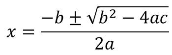 二次方程式の解の公式